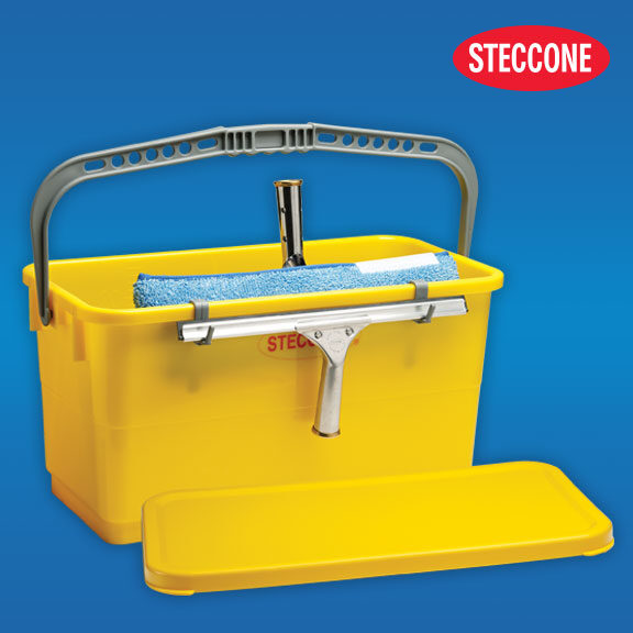 Steccone® window cleaning bucket with lid
