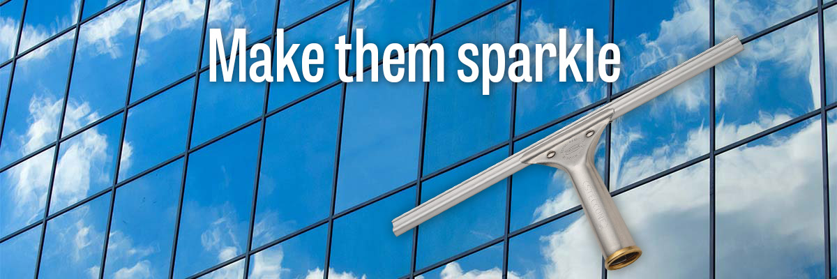 Make them sparkle with Steccone window cleaning supplies