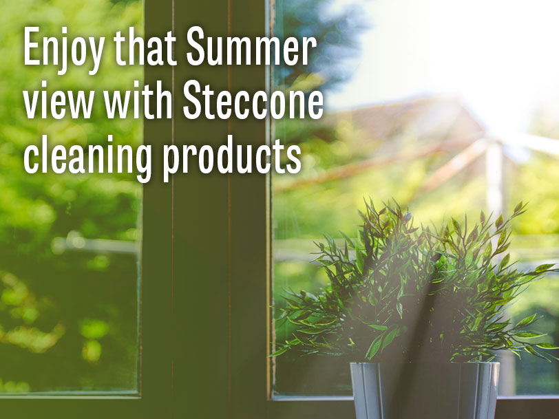 Enjoy that summer view with Steccone window cleaning products