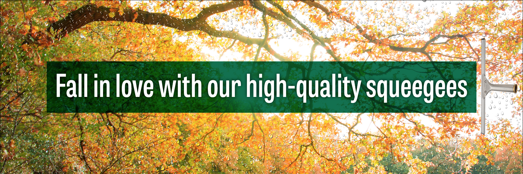 Fall in love with our high-quality squeegees